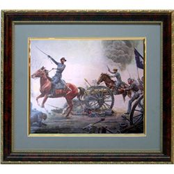Mort Kunstler Frmd Print Civil War First to the Guns