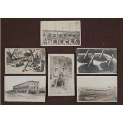 "6 WWI U.S. PHOTO POSTCARDS-12"" MORTARS-DOUGHBOYS"