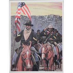 John W. Jones After the Battle Civil War Art Print