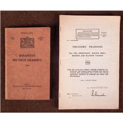 2 WWII BRITISH INFANTRY TRAINING MANUALS 1938, 1944