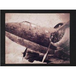 Unusual Aluminum Sepia Art Photo WWII B23 Airplane