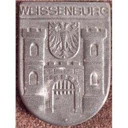 NAZI MEDAL WEISSENBURG W/COAT-OF-ARMS-MKD M9/29 & RZM