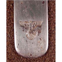 NAZI FIELD FORK, CAN OPENER W/EAGLE SWASTIKA W/MAKER MK