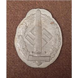 NAZI STORMTROOPER SPORTS AWARD MEDALLION FOR WOUNDED SA
