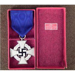 NAZI 25 YEAR FAITHFUL SERVICE TO PARTY AWARD- ORIG CASE