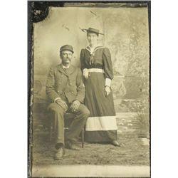 Antique Tintype Photo 1800s Naval Soldier Civil War?