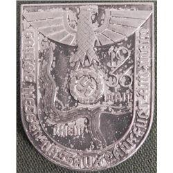 1936 NAZI MEDAL GAUTAG HESSEN W/LARGE EAGLE & SWASTIKA-