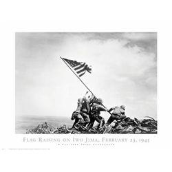 Joe Rosenthal Flag Raising Iwo Jima WWII Poster Print