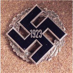 NAZI 1923 PARTY DISTRICT GAU COMMEMORATIVE BADGE RARE