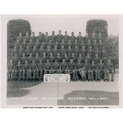 Lee Harvey Oswald's Hand-noted 1956 US Marine Corps Platoon Photograph
