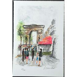 Urbain Huchet Signed Ltd Ed Print Arc de Triomphe Paris