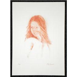 Juliette Honnart Signed Art Print Child Gazing