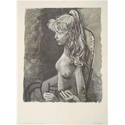 2 Picasso Prints Sylvette au Fauteuil & Striped Blouse
