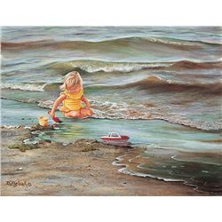 Doris Zdebiak Beach Baby Art Print Adorable