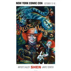 Shen Alice in Wonderland Signed Art Print