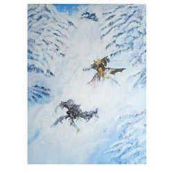 Annie Lee Jammin' da Chute Skiing Art Print