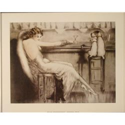 Louis Icart : Le Cocktail Art Print