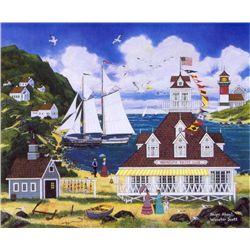 Jane Wooster Scott Signed Print Ships Ahoy