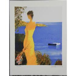 Emile Bellet Quietude Marine Lithograph S/N Print