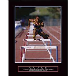 Goals - Runner Jumping Hurdles Photo Print