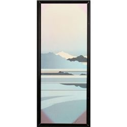 Japanese Art Print Mountain Landscape Framed