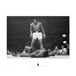 Muhammad Ali vs Sonny Liston Boxing Match Photo Print