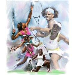 Wishum Gregory Venus and Serena Tennis Art Print