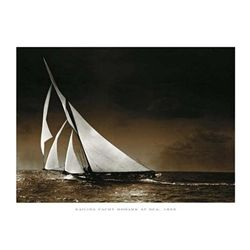 Photography Collection Sailing Yacht Mohawk at Sea 1895