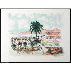 Urbain Huchet Signed Artists Proof Print Tropical Shore