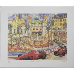 Monaco Grand Prix Duaiv Signed and Numbered Litho Print