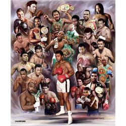 Wishum Gregory Boxing Greats: Champions #3 Art Print