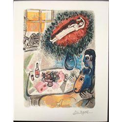 After Marc Chagall Interpretation Art Print Romantic