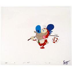 Walking Out Original Ren and Stimpy Cel Animation Art