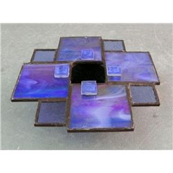 Prairie Style Stained Glass Flower Vase/ Candle Holder