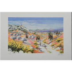 Ella Fort Provence Valley France S/N Lithograph Print