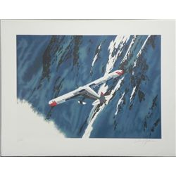 Harry Schaare Signed and Numbered In Flight Litho Print