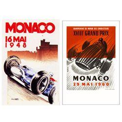 2 Racing Poster Monaco 1948, 1960 Mattei, Lorenzi