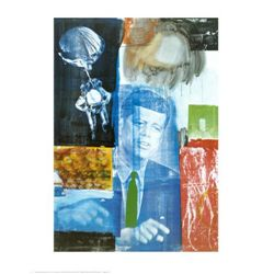 Robert Rauschenberg Art Print Retroactive I w/ Kennedy