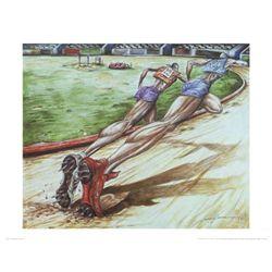 Levon Lewis The Extra Mile Runner Art Print