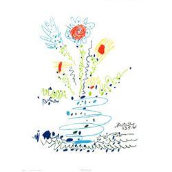 Pablo Picasso Summer Bouquet Circa 1970 Art Print