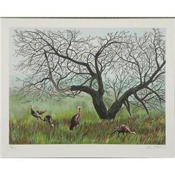 Allen C Friendman S/N Lithograph Print Turkey Time