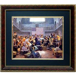 Mort Kunstler Historic Framed Art Print Ellis Island NY