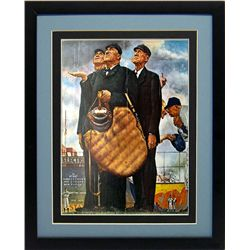 Norman Rockwell Bottom of the 6th Framed Print