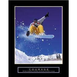 Courage Snowboarder Photo Print