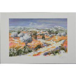 Ella Fort Landscape in Provence S/N Litho Print