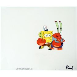 Original Cel Number One Employee Animation Spongebob