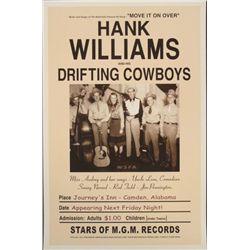Hank Williams & His Drifting Cowboys 1947 Repro Poster