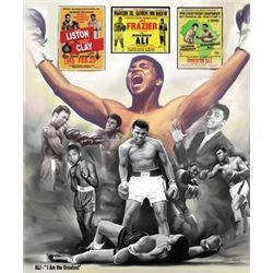 Wishum Gregory Muhammad Ali: I Am the Greatest Print