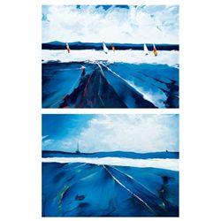 2 Candice Tait Ocean Prints Riding the Waves, Seascape