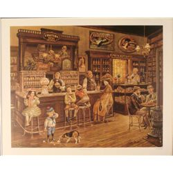 Lee Dubin : Turn of the Century Drugstore Art Print